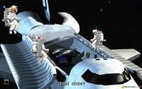 Just outside the shuttle module