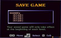 Save game screen