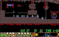 Sixth stage, coordinate Lemmings to explode next to the fence