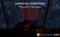 Character generation screen