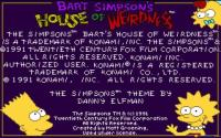 The Simpsons: Bart's House of Weirdness download