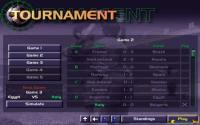 Tournament menu: results table
