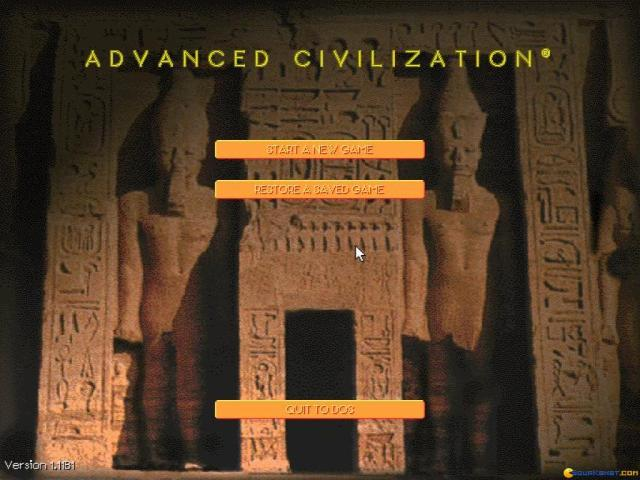 Advanced Civilization - title cover