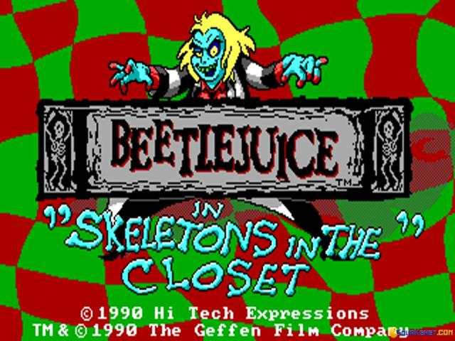 Beetlejuice: Skeleton in the Closet - title cover