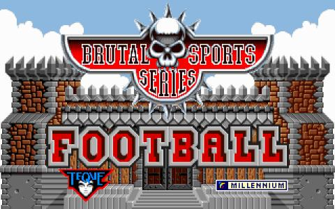 Brutal Sports Football - title cover