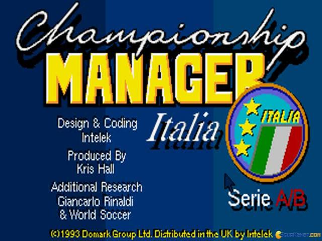 Championship Manager Italia - game cover