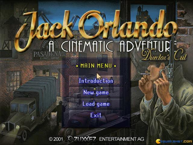 Jack Orlando: A Cinematic Adventure - game cover