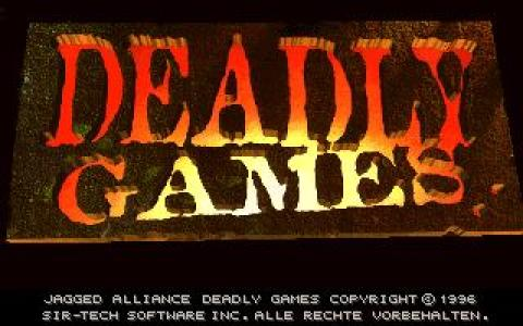 Jagged Alliance: Deadly Games - title cover
