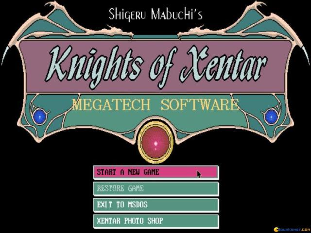 Knights of Xentar - title cover