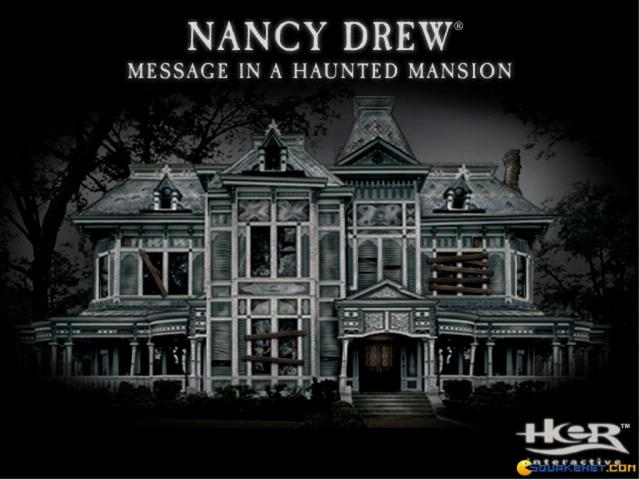 Nancy Drew: Message in a Haunted Mansion - title cover
