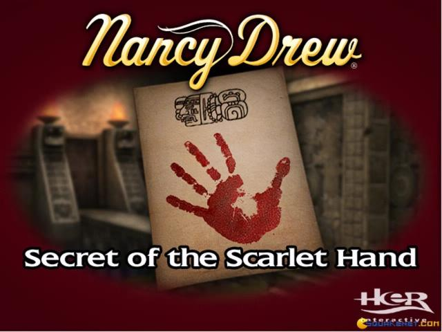 Nancy Drew: The Secret of the Scarlet Hand - title cover