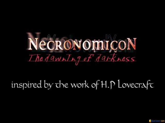 Necronomicon: The Dawning of Darkness - title cover