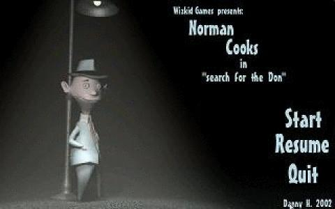 "Norman Cooks in ""Search for the Don"" - title cover"