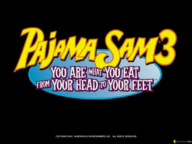 Pajama Sam 3: You Are What You Eat From Your Head To Your Feet - title cover
