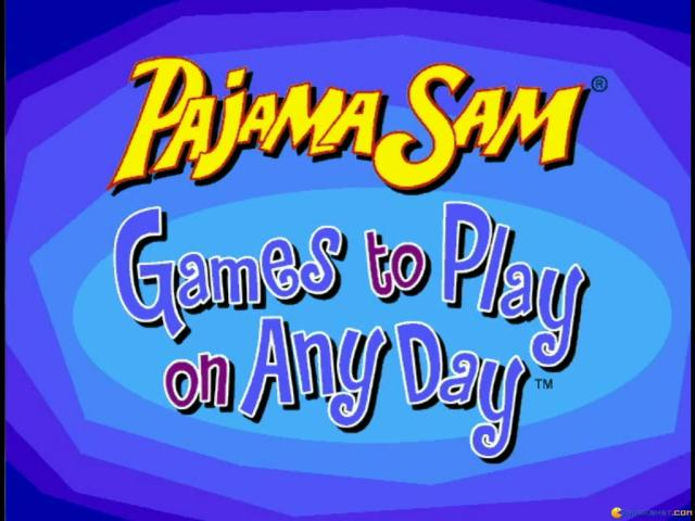 Pajama Sam: Games to Play on Any Day - title cover