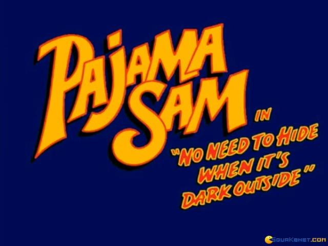 Pajama Sam: No Need to Hide When It's Dark Outside - title cover