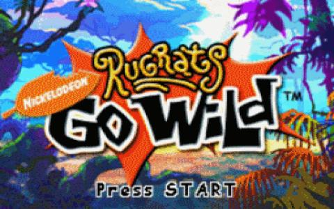 Rugrats Go Wild - game cover