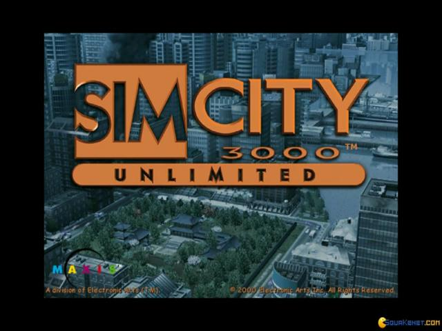 SimCity 3000 Unlimited - title cover