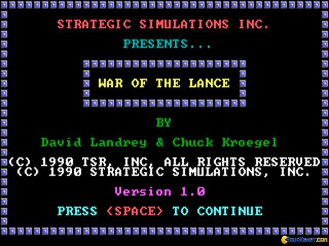 War of the Lance - title cover
