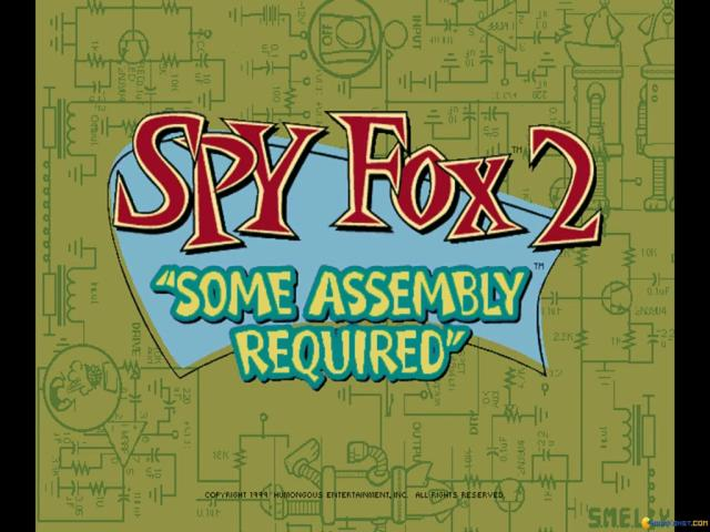 Spy Fox 2: Some Assembly Required - title cover