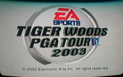Tiger Woods PGA Tour 2003 - title cover