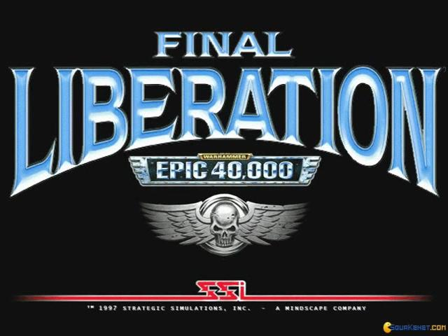 Warhammer Epic 40,000: Final Liberation - title cover