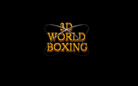 3D World Boxing - title cover