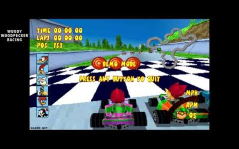 Woody Woodpecker Racing - game cover