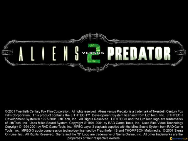 Aliens vs Predator 2 - title cover
