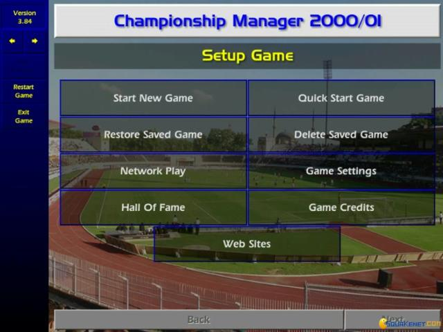 Championship Manager: Season 00/01 - title cover