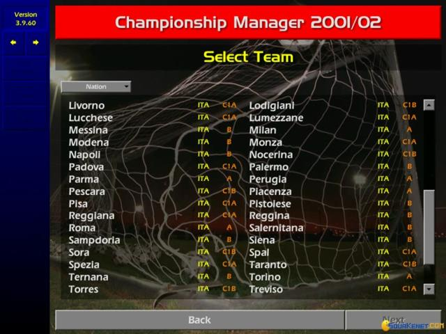 Championship Manager: Season 01/02 - title cover