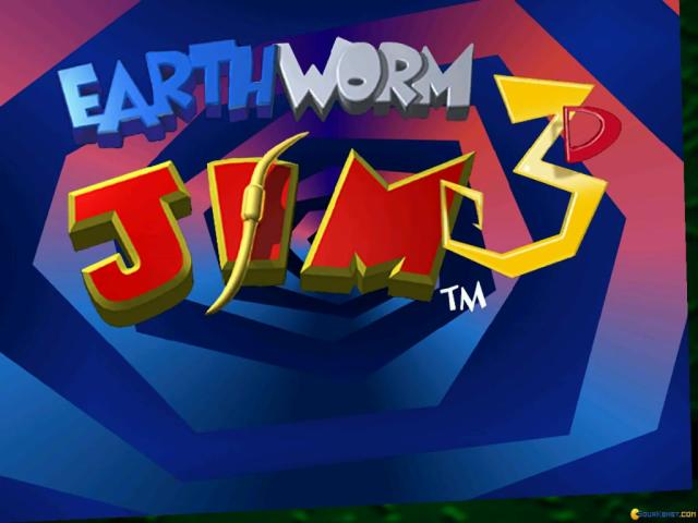 Earthworm Jim 3D - title cover