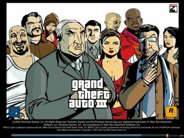GTA 3: Grand Theft Auto 3 - title cover