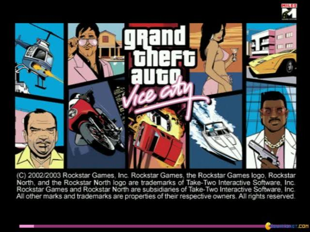 Grand Theft Auto: Vice City - title cover