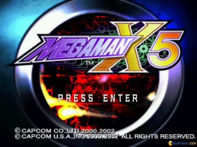 Mega Man X5 - game cover