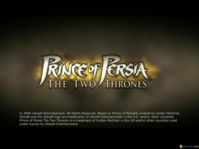 Prince of Persia: The Two Thrones - title cover