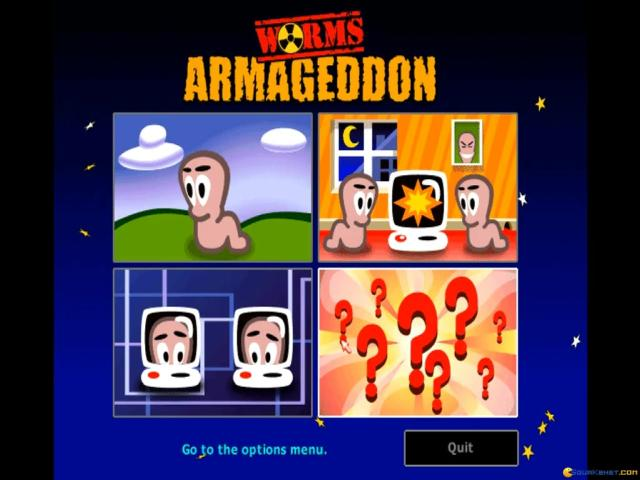 Worms Armageddon - title cover