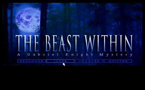 Gabriel Knight 2: The Beast Within - title cover