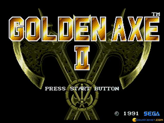 Golden Axe 2 - title cover