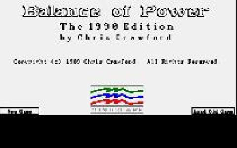Balance of Power - game cover