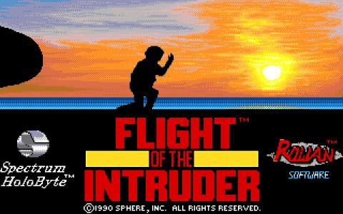 Flight of The Intruder - title cover