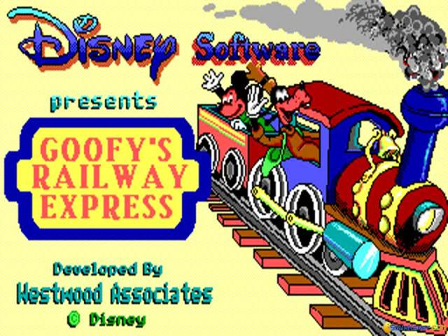 Goofy's Railroad Express - title cover