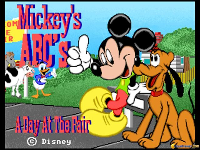 Mickey's ABC's: A Day at The Fair - title cover