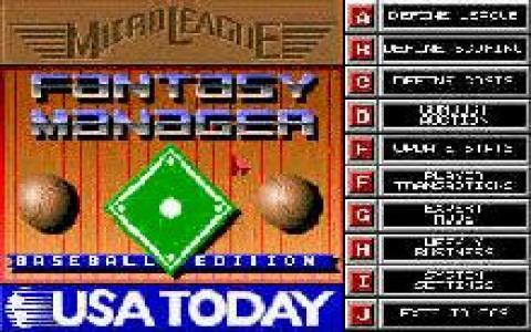 Micro League Fantasy Manager: Baseball Edition - game cover