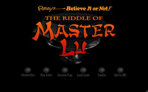 Riddle of Master Lu - game cover