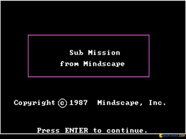 Sub Mission - title cover
