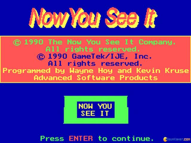 Now You See It - title cover