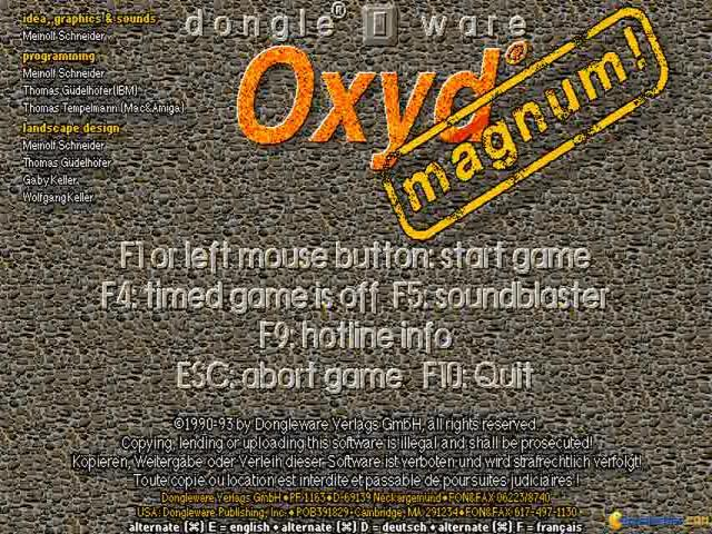 Oxyd Magnum - title cover