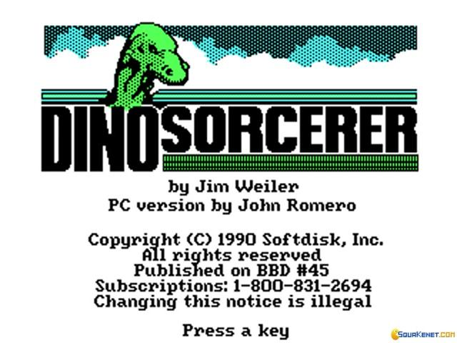Dino-Sorcerer - title cover