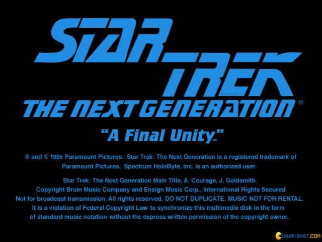 Star Trek TNG: A Final Unity - title cover